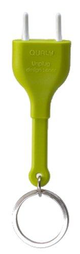 QUALY QL10076G Schlüsselhalter und anhänger Unplug Key Ring, grün