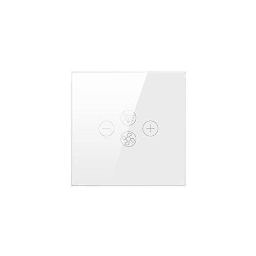 Interruptor de luz de ventilador Tuya Wifi, interruptor de lámpara de ventilador de techo inteligente con aplicación de temporizador de controlador de velocidad/control de voz/táctil de Alexa/Google