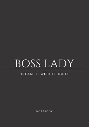 Boss Lady: Business woman project planner   Motivational quote   Dream it...