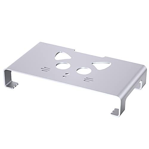 QYQS Soporte Pantalla Ordenador, Aleación de Aluminio, Cojinete de Carga Más Fuerte, Diseño de Monitor Blanco de Diseño Simple(Color:Blanco)