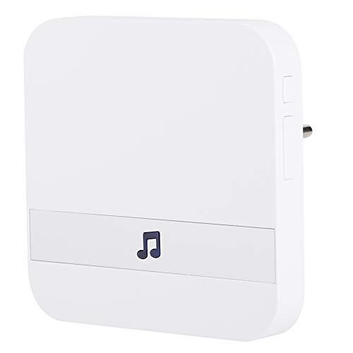 90~260V timbre de la puerta hogar moderno blanco multifuncional timbre puerta alarma enchufe de la UE