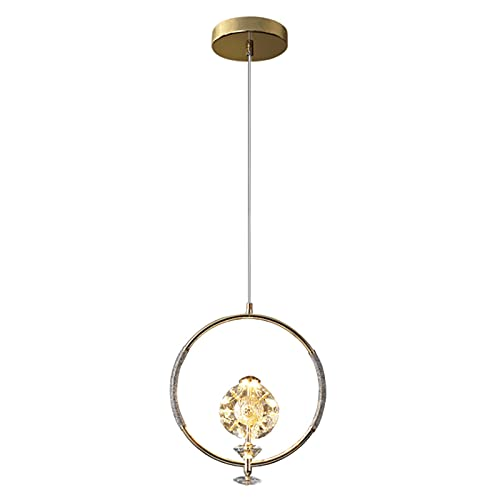 WJMM Ping An Fruit Crystal Chandelier, Lámpara LED Simple Simple Light Light Light, Adecuado para Dormitorio, Sala de exposiciones, Entrada