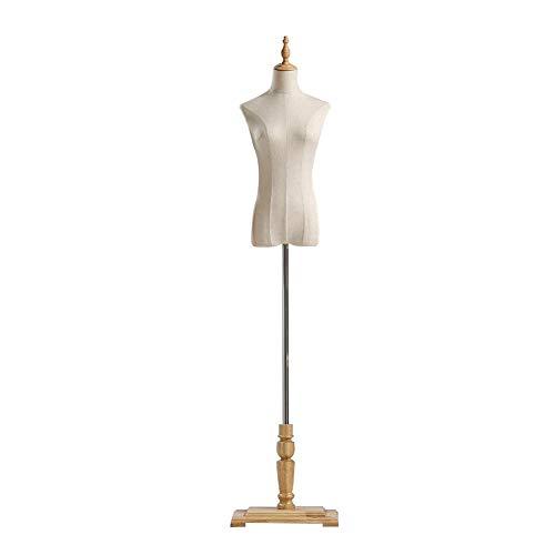ZHAOHUI Maniquí De Costura Busto Cuerpo del Torso Blanco con Brazo Altura Ajustable Desmontable Cuerpo Completo De Plástico para Exhibición De Ropa, 2 Estilos (Color : Yellow-A, Size : M)
