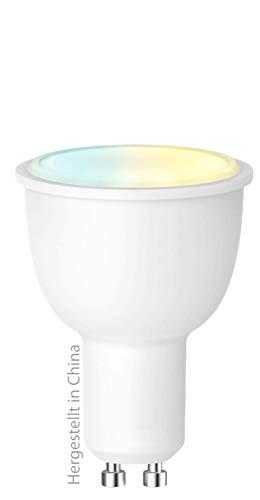 swisstone Smart Wifi LED-lamp, GU10 (380 lumen, 4,5 watt) warm/koud wit, CCT, spraakgestuurd, compatibel met app, werkt met Amazon Alexa en Google Home, SH 350