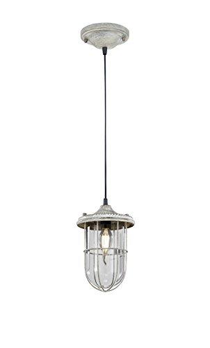 Trio Lighting Vintage Birte Lmpara colgante, Antique gris y cristal transparente