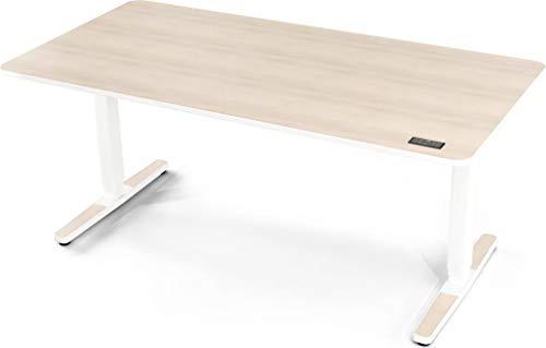 Yaasa Desk Pro II, Elektrisch höhenverstellbarer Schreibtisch, Ergonomischer Schreibtisch (Akazie hell, 160 x 80 cm)