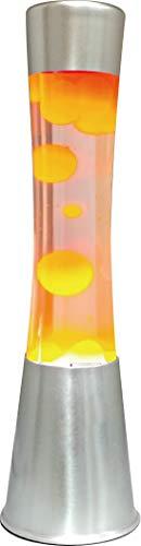 7even Lava Lampe groß 40cm orange Retro-Lampe fertig mit Stecker…