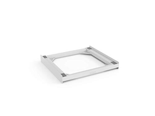 Meliconi Base Torre Basic Kit di Sovrapposizione in tecnopolimero per lavatrice e asciugatrice, Poliuretano, Bianco