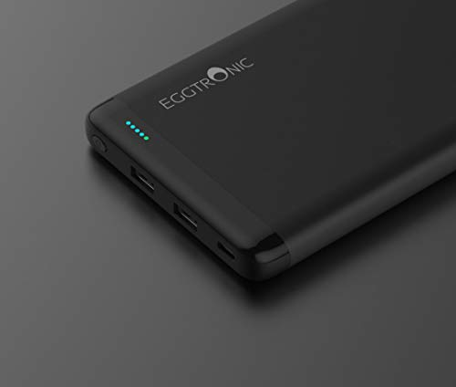 Eggtronic Laptop Power Bank - Caricabatterie Universale per Laptop, Smartphone, Tablet - Carica Fino a Tre Devices Simultaneamente - Type-C Input Output, 63W Output Totali, 20.000mAh