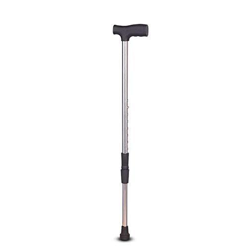 GCE Bastón de Acero Inoxidable de una Sola Pierna Que Absorbe los Golpes bastón Ciego de Andador de Altura Ajustable para Ancianos y Miembros frágiles y discapacitados o débiles
