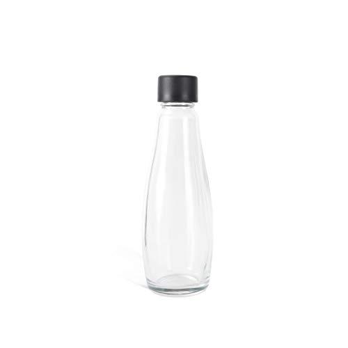 Levivo Botellas de vidrio para gasificadora, 0.6 l de capacidad, se pueden usar como jarra de vidrio, más ecológicas y duraderas que las botellas de PET, 1 botellas