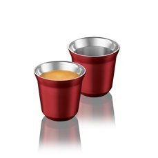 Nespresso Pixie Espresso Decaffeinato Intenso 2 Cups made of metal - Original