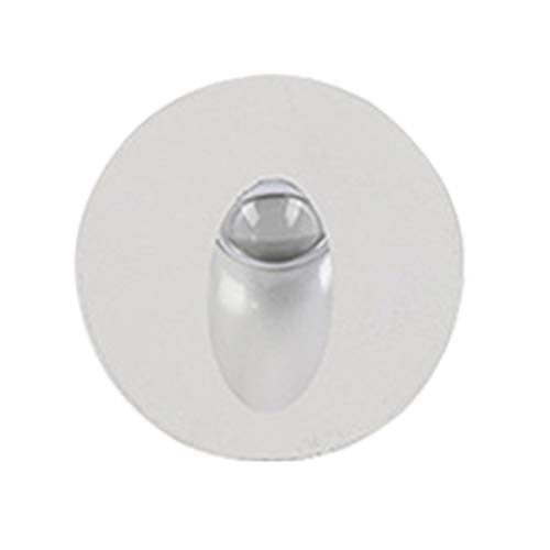 RongWang Luz De Escalera LED Lámpara De Pared Blanca Redonda De Aluminio 1W 3W Lámpara De Paso LED Empotrada Lámparas De Esquina De Pared De Camino AC85-265V Luz De Pared