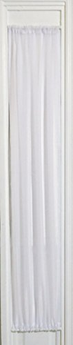 """White Sheer SIDELIGHT Curtain 29"""" Wide 63"""" Lenght Rod Pocket TOP and Bottom"""
