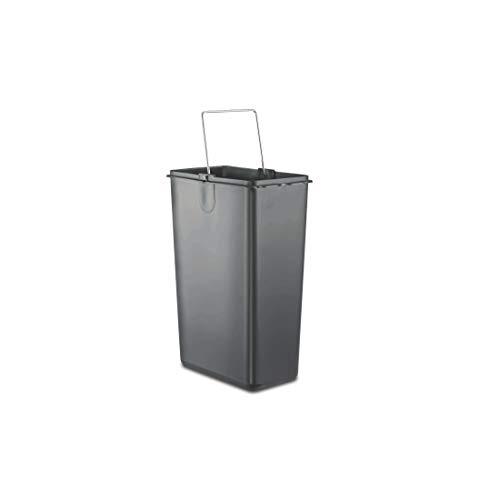 Prestige Stainless Steel Flip Bin, 16-litres, Silver/Black
