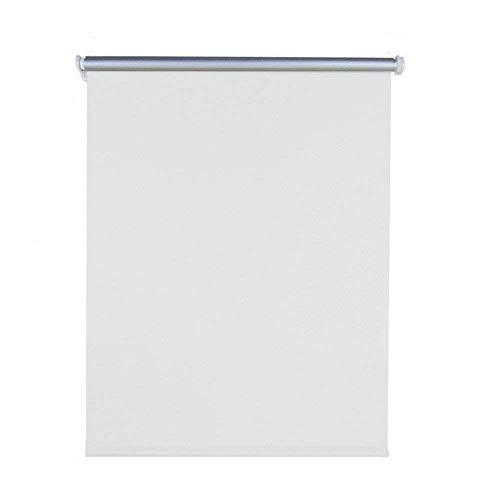 Aufun Verdunkelungsrollo Thermorollo Seitenzugrollo Seitenzug Klemmrollo ohne Bohren Klemmfix (90 x 160 cm, Weiß)