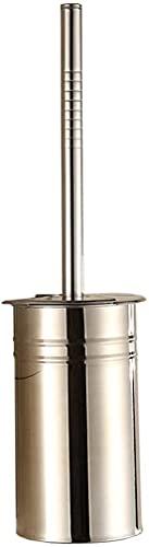 Cepillo de inodoro Cepillos de inodoro y soportes Manija de acero inoxidable Cepillo de inodoro Conjunto de cepillo de baño WC completo Cepillo de inodoro cerrado Lomo Cepillo de inodoro y soporte