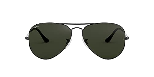 Ray-Ban RB3025 Aviator Occhiali da Sole Unisex Adulto, Nero (Grigio), 62