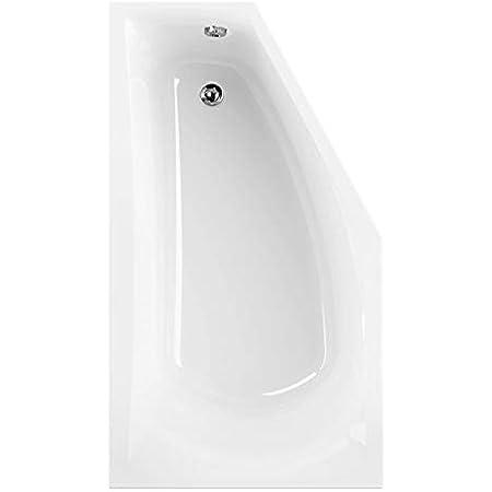 Bathtub Tub Corner Bathtub Left Silicone Acrylic 150 x 90 cm AB//Overflow Feet