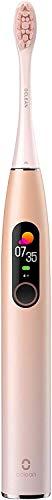 Cepillo de dientes eléctrico Oclean X Pro, con pantalla táctil LCD, limpieza en profundidad de 2000 VPM, 3 modos 32 intensidades (Sakura Rose)