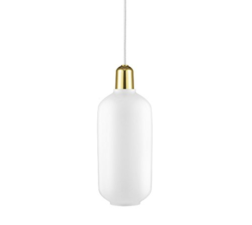 Normann Copenhagen Amp - Lampada a sospensione grande, in ottone, 26 x 11,2 cm