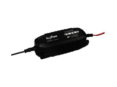 Dispositivo per carica e mantenimento batteria, 6V, 12V, 1500 mA adatto per automobile, motorino, scooter, motocicletta di alcapower