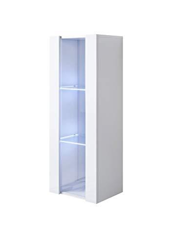 muebles bonitos Armario Colgante Modelo Luke V2 (40x126cm) Color Blanco