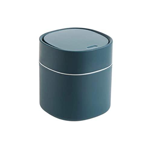 TTOOY Bote de Basura Moderno de plástico Mini Papelera con Tapa para tocador de baño, Escritorio o Mesa de café Cubo de Basura de 2 litros/0,5 galones (Color: B)