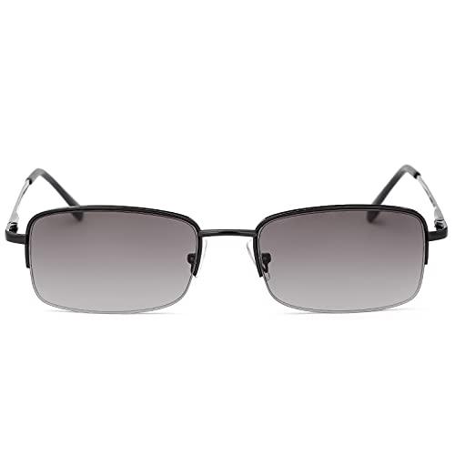 Lesebrille UV400 Schutz Sport Sonnenbrille Blaulichtblockierende Federscharniere Volle Sonne Lesebrille für Unisex Männer Frauen Outdoor Fahrsicherheitsbrillen Getönte Linsenschirme Brillen