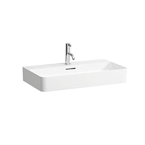 Laufen VAL Möbel-Waschtisch, 3 Hahnlöcher, mit Überlauf, 750x420, weiß, Farbe: Weiss matt
