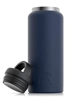 RTIC Water Bottle 36 oz Navy Vacuum-Insulated Stainless Steel
