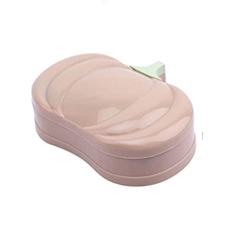 ZAIZAI Jabón PP Material Hogar práctico Caja de jabón portátil Baño Lindo Baño Jabón Placa de contenedor (Color : B)