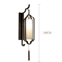 New Chinese wall lamp lamp bedroom bedroom bedside bedroom bedroom room aisle restaurant hotel background wall lamp - 8