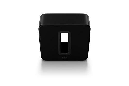 Sonos Sub, schwarz – Leistungsstarker WLAN Subwoofer für dynamische & tiefe Bässe für alle Sonos Speaker – Eleganter Multiroom Subwoofer für erstklassigen Sound