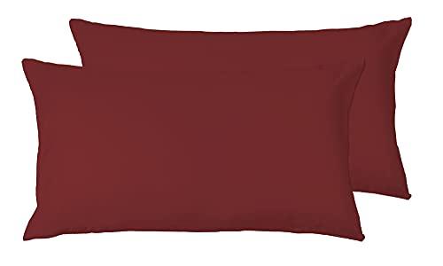 cuscino 80x80 letto Coppia di Federe Bordeaux 50 x 80 cm