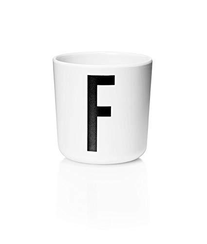 Design Letters - Melamin Becher - Buchstabe: F - Multifunktionsbecher - Arne Jacobsen