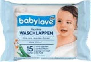 4 x 80 St 4er Pack babylove Waschlappen feucht