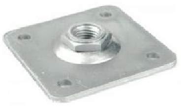 CZAIKA M16 - Placa atornillable (80 x 80 x 4 mm)