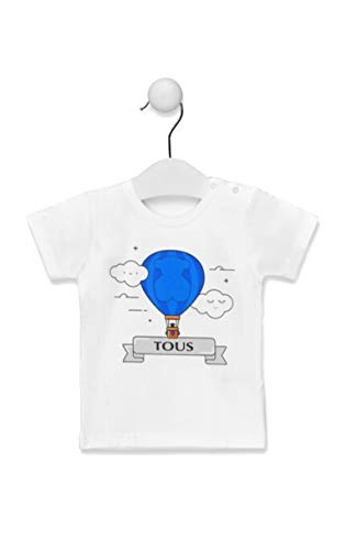 Tous Baby Camiseta M/C GLOBO-1402 Celeste Talla 3 AÑOS