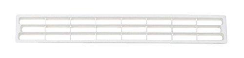 PiHaMi® Lüftungsgitter für Sockelleisten und Möbel Farbe weiß (geeignet für Material 2-23 mm)