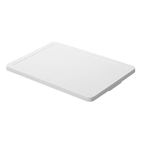 無印良品 ポリプロピレン収納ボックス・ワイド用フタ・ホワイトグレー 幅51×奥行37.5×高さ2.5cm
