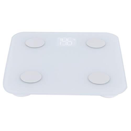 Omabeta Báscula electrónica Duradera Diseño de Apariencia Simple Báscula de Peso Inteligente Báscula de Grasa Corporal para Equipaje de Oficina en casa