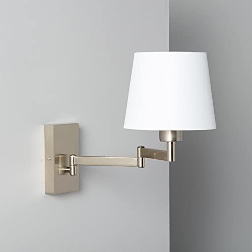 LEDKIA LIGHTING Lampada da Parete Ugani 305x180x440 mm Bianco per Sale, Soggiorno, Cucina, Camera