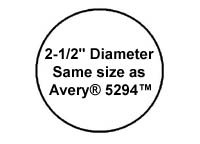 """1,200 Label Outfitters Round, White, 2-1/2"""" Diameter Laser and Inkjet Labels, 100 Sheets Photo #2"""