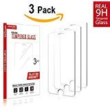 iPhone 8, 7 6S 6 Screen Protector Glass [3 pack], Amazingforless iPhone 8, 7 Tempered Glass Screen Protector for Apple iPhone 8, 7, iPhone 6S, iPhone 6 2017 2016, 2015
