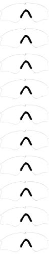 Oakley Men's AOO9296LS Si Ballistic M Frame Alpha Sport Replacement Sunglass Lenses, Clear-10 Pack, 58 mm