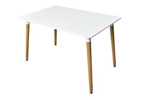 SAMIRA Tavolo da Pranzo Rettangolare, Tavolo da Cucina Bianco MOD. Otello