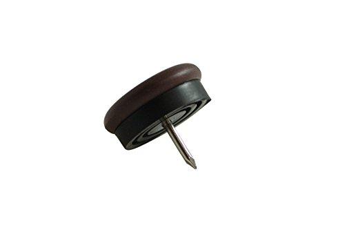 Kunststof glijders met nagel bruin meubelglijders 20 mm nagelglijders voor houten stoelen van GleitGut Durchmesser 20 mm bruin/zwart