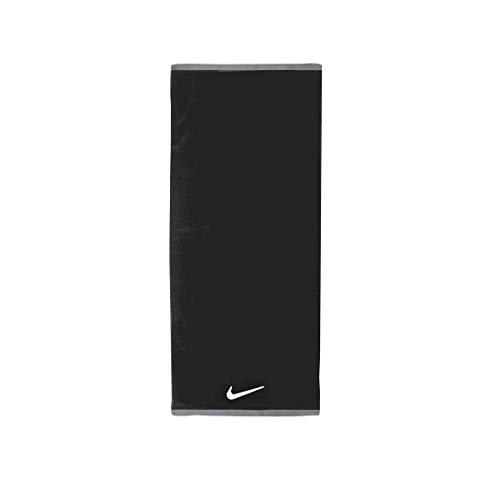 Nike Unisex– Erwachsene FUNDAMENTAL Towel Handtuch, Black/White, 60x120cm