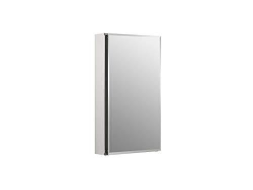 Kohler K-CB-CLC1526FS Frameless 15 Inch X 26 Inch Aluminum Bathroom Medicine Cabinet; Recess Or Surface Mount